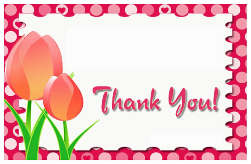 Thank You Card Template 30