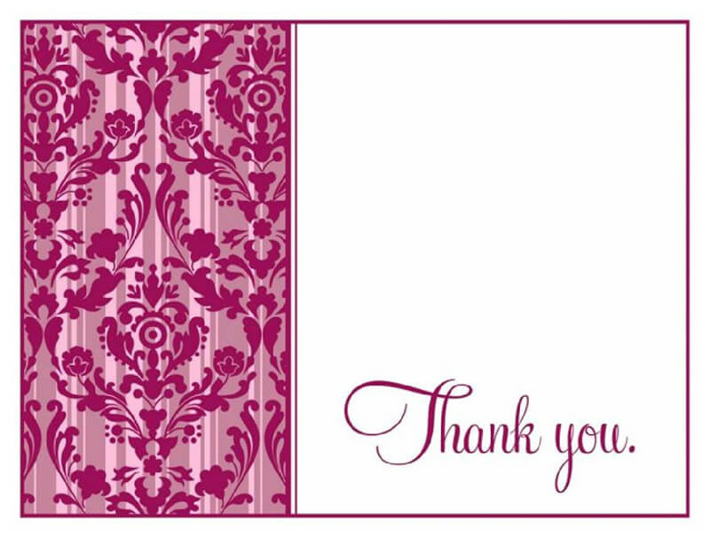 Thank You Card Template 36