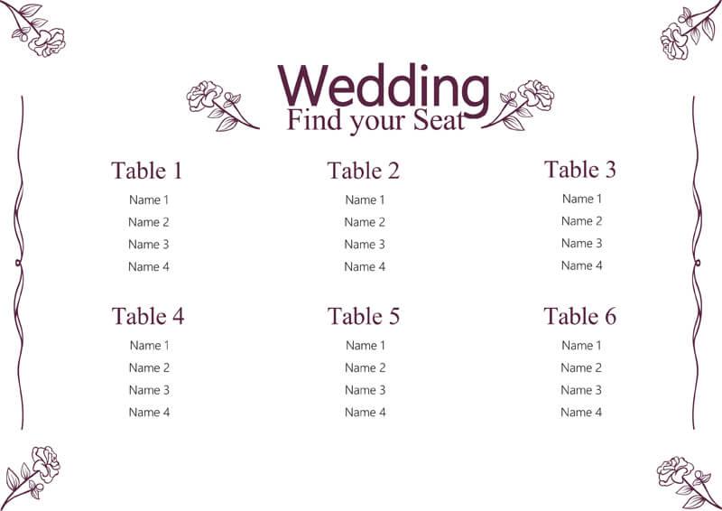 Wedding Seating Chart 03