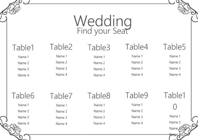Wedding Seating Chart 04