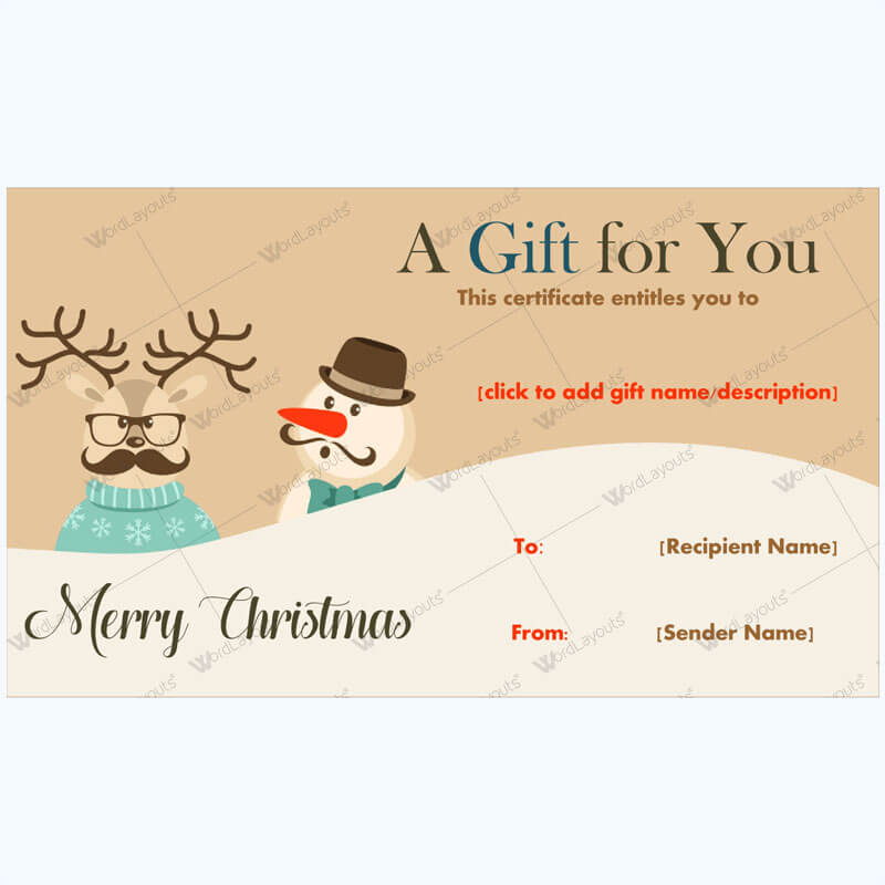 Christmas Gift Certificate Template 24