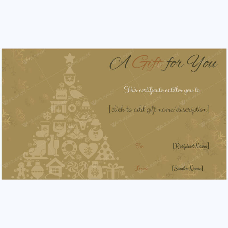 Christmas Gift Certificate Template 28