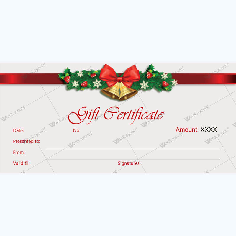 Christmas Gift Certificate Template 36