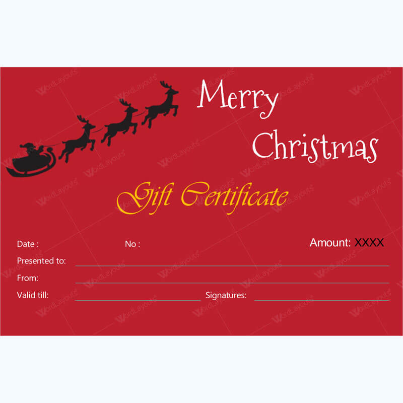Christmas Gift Certificate Template 37