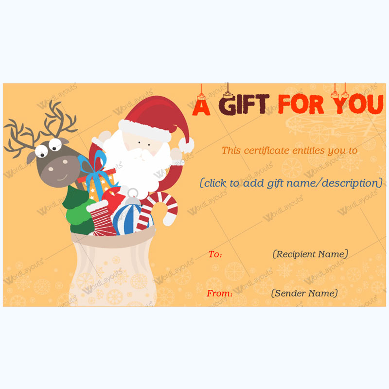 Christmas Gift Certificate Template 25