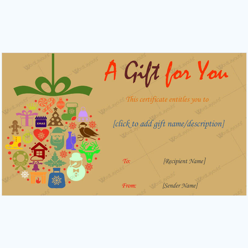 Christmas Gift Certificate Template 27