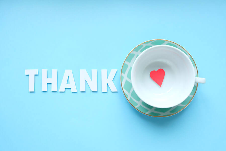 sending thank you