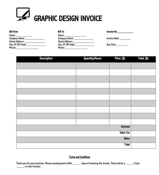 blank invoice template google sheets 01