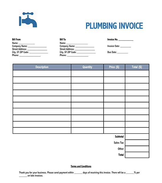 blank invoice template excel download 03