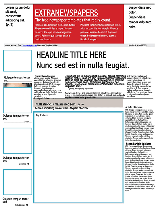 microsoft publisher newspaper template free download