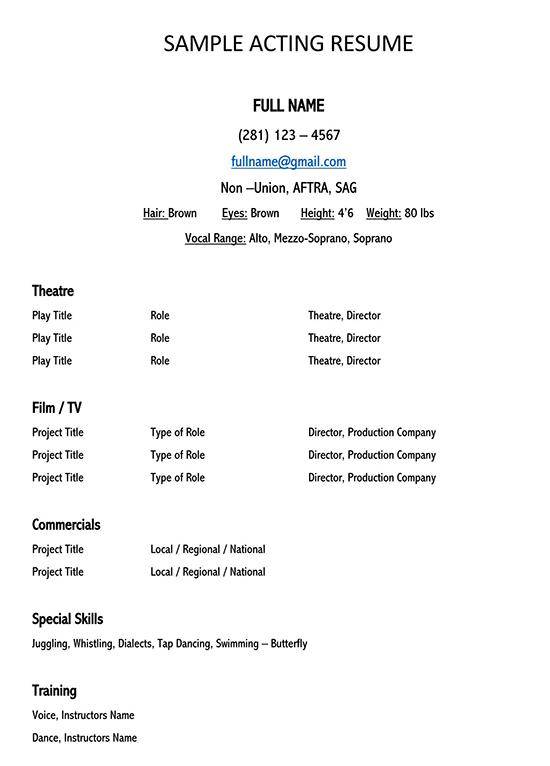 performance resume template