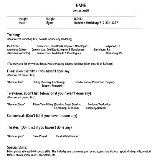 acting resume template google docs 01