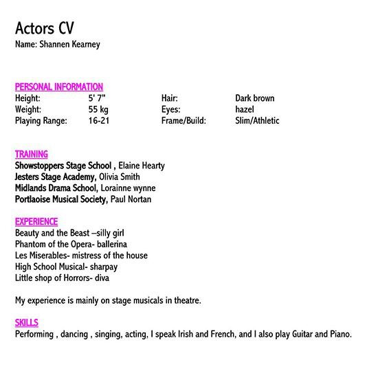 acting resume 2018 01