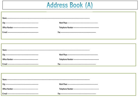 Digital address book