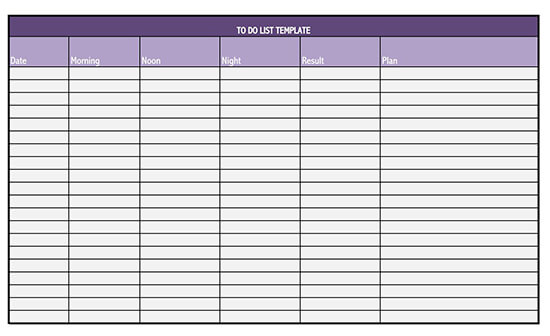 to do list template word