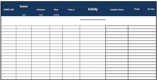 work checklist template 02