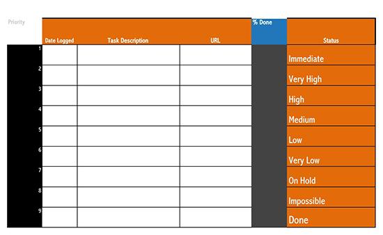 work checklist template 03