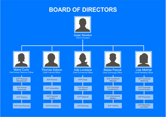 Board Of Directors Organizational Chart