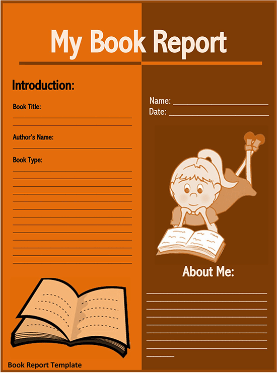 creative book report templates pdf