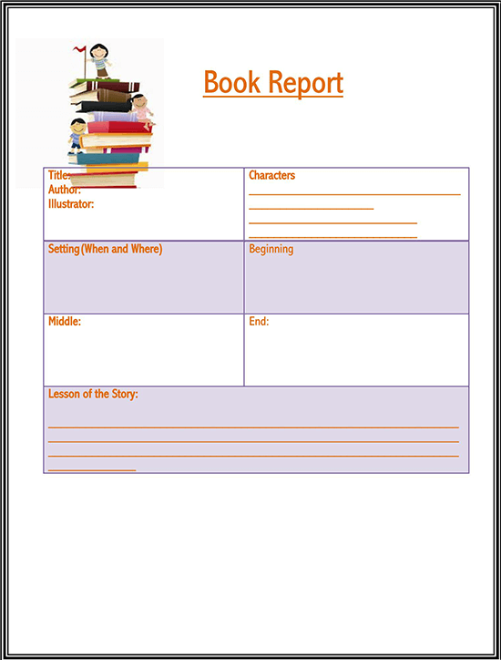 book report template google docs 01