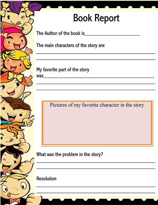 book report example 01