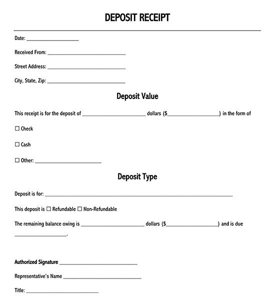 rent receipt bc