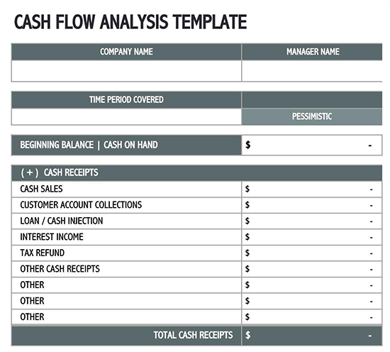 hotel cash flow template