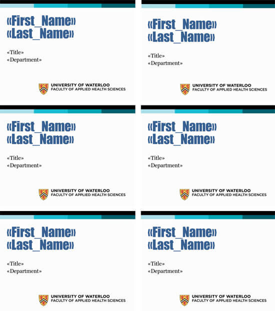Desk Name Tag Template Format