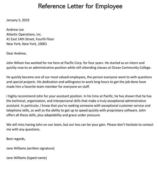 Employer-Reference-Letter