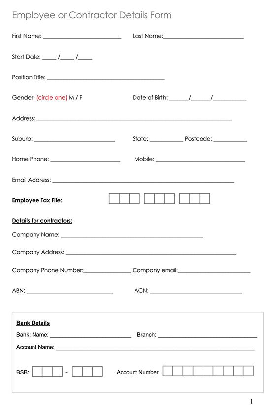 Employment Application Template 11