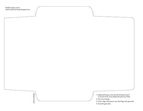 christmas envelope template word 02