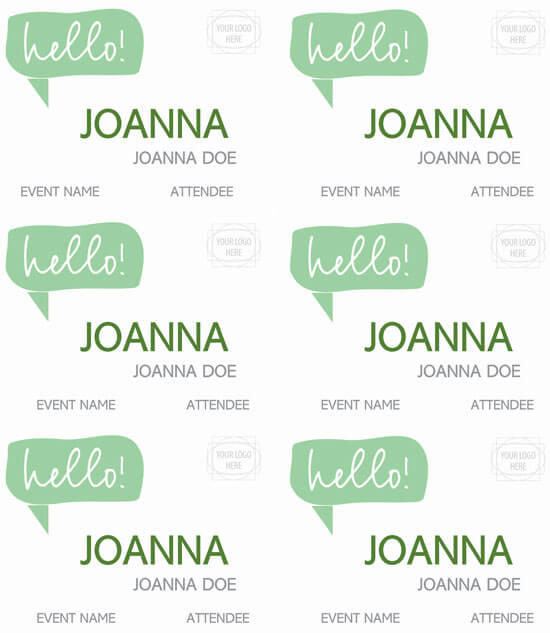 Fancy Name Tag Template Format