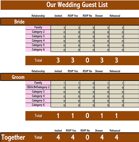 Guest book form