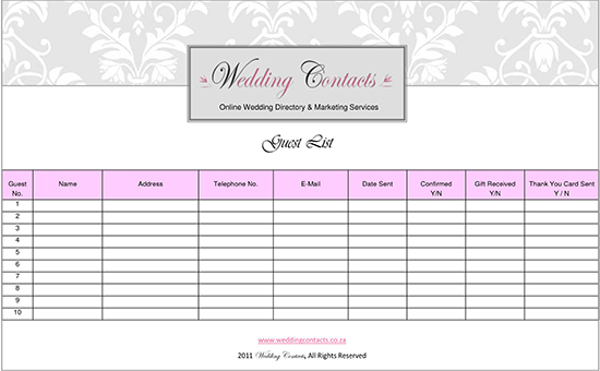 Guest book template Google Docs 01