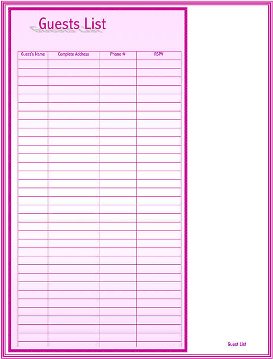 Graduation guest book template 01