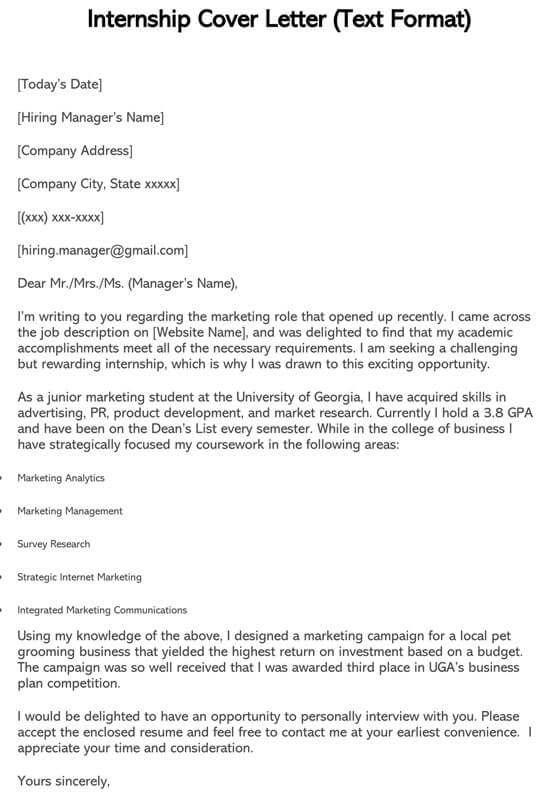 Cover Letter Sample For College Student Seeking Internship from www.doctemplates.net