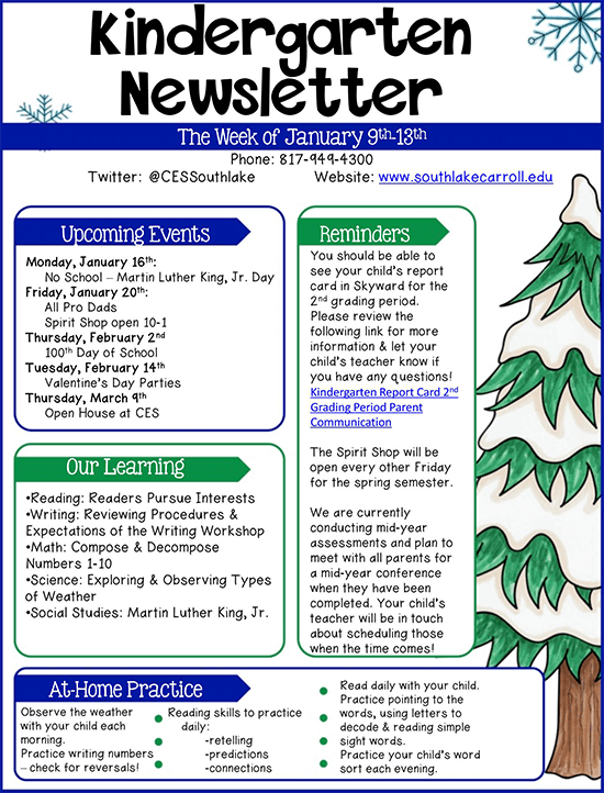 preschool newsletter pdf
