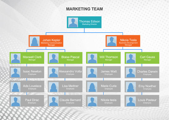 Marketing Team Organizational Chart