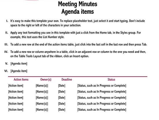 meeting minutes template excel 01