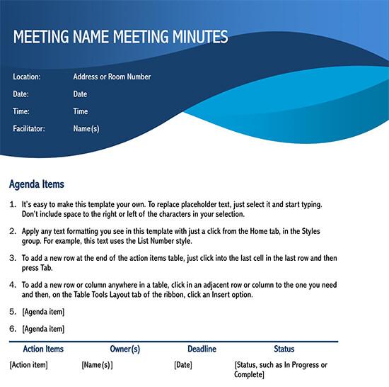 meeting minutes template google docs 01
