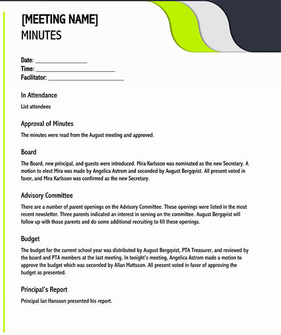 meeting minutes template excel 02