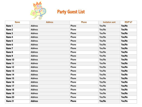 party guest list template google sheets baby shower guest list template how to make a guest list for a party engagement party guest list template guest list print out funeral guest list template wedding list template guest list sign in sheet