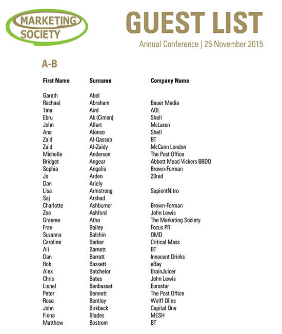 funeral guest list template