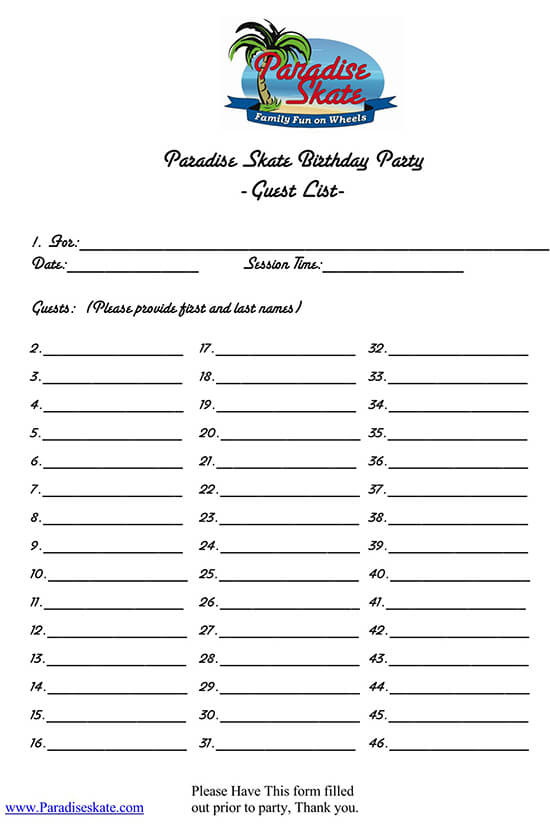 how to make a guest list for a party 01