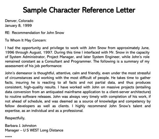 Reference-Letter-From-Current-Employer