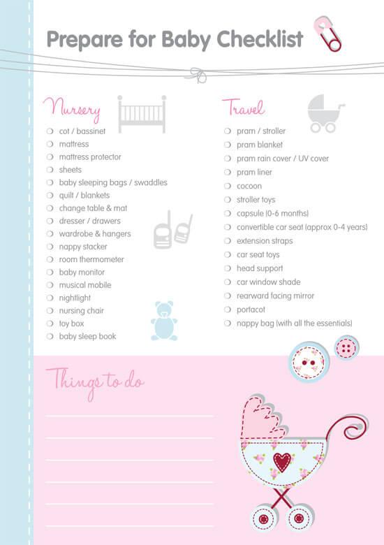 Sample Essential Baby Register Checklist