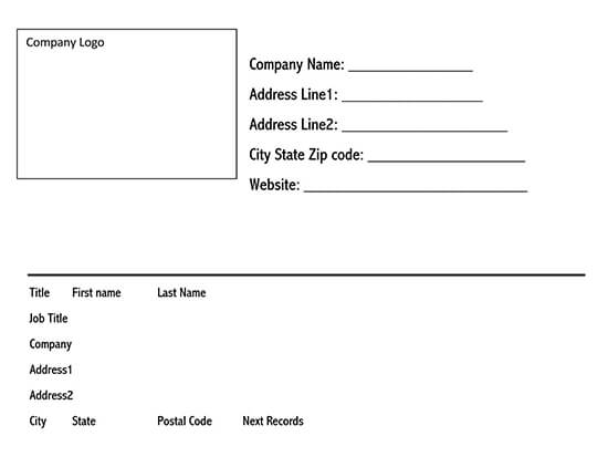 Shipping label template download