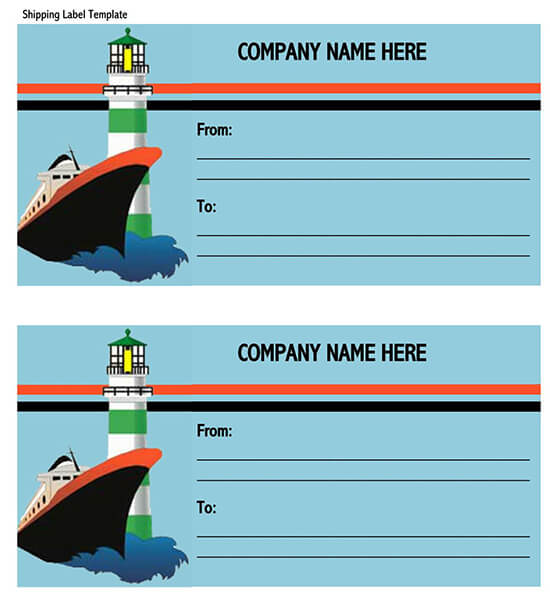 Free mailing label template for Word