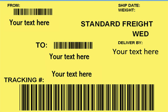 Shipping label template Google Docs