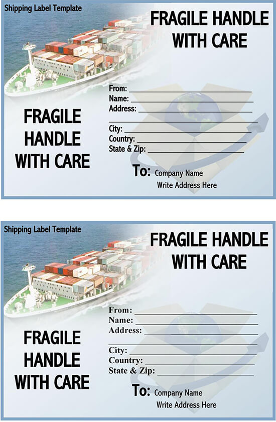 Shipping label template Google Docs 01